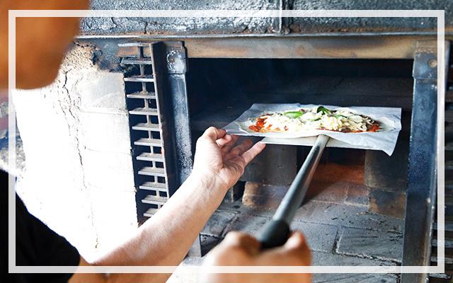 なるべく地元の食材を使用したピザを考案!